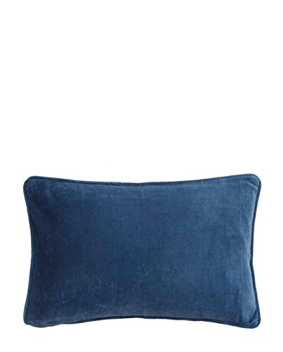 Bungalow Cushion Cover 33x50, Velvet China Blue
