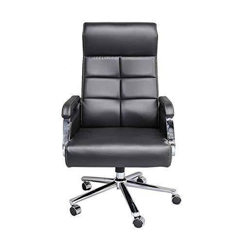 BKWJ Sillas y sofás de Oficina, Silla de Oficina Jefe Silla reclinable Silla de computadora Silla giratoria, Negro, marrón