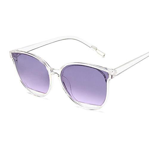 ShZyywrl Gafas De Sol Gafas De Sol De Moda para Mujer, Espejo De Metal Vintage, Gafas De Sol Clásicas para Mujer, Uv400 Transpurple