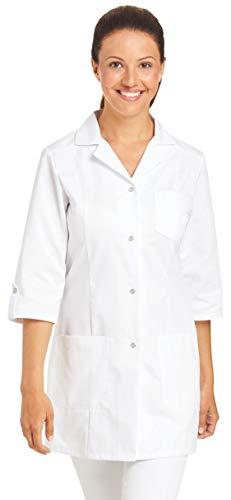 clinicfashion 10214019 Langkasack 3/4-Arm, weiß, für Damen, Mischgewebe, Größe 42