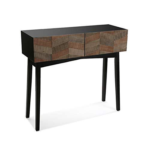 Versa Skagen Mueble Recibidor Estrecho para la Entrada o el Pasillo, Mesa Consola, con 2 cajones, Medidas (Al x L x An) 82 x 32 x 90 cm, Madera, Color Marrón