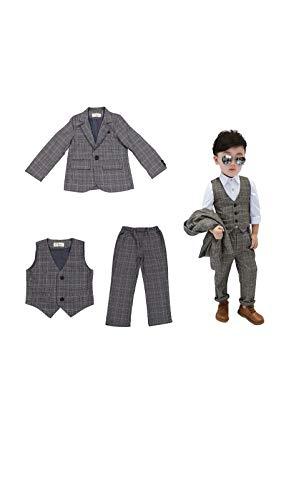 男の子 スーツ 子供 スーツ キッズ フォーマル 男 スーツ 子供服 ベスト ジャケット ズボン 3点セット 七五...