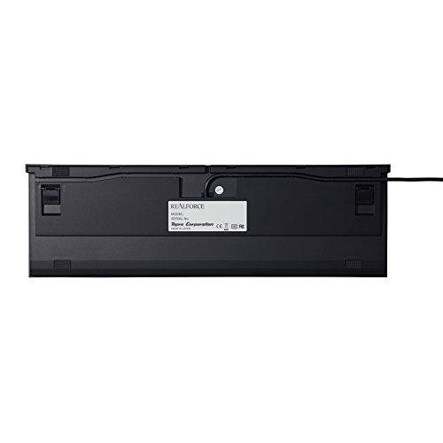 東プレREALFORCER2日本語108配列静電容量無接点方式USBキーボード荷重45gレーザー刻印かな表記なしブラックR2-JP4-BK