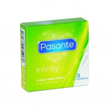 Pasante Infinity, Ausdauer Kondome für längeren Sex / Verzögerungskondome für mehr Ausdauer, 12 x 3 Stück Sparpack