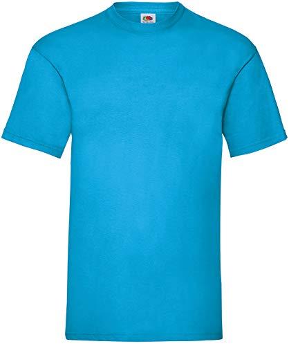Fruit of the Loom Herren Valueweight Short Sleeve T-Shirt, azurblau, L