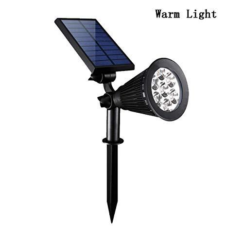 STHfficial 7 LED Solar gazonlicht buiten waterdicht verstelbaar tuin landschap lamp spotlight met wandmontage Warmte