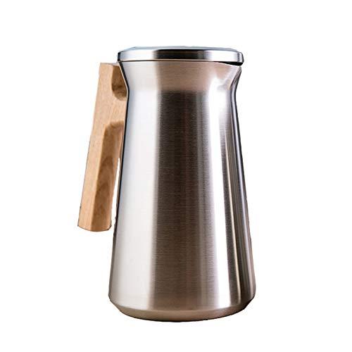 Jarra al vacío de acero inoxidable 304 de doble pared de acero inoxidable para té aislado al vacío, jarra térmica de 24 horas de retención de calor para café, té, bebidas, etc. (color: dorado)