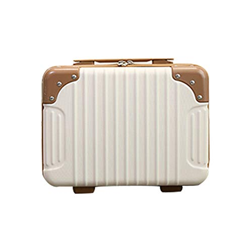 Does not apply Ladies' Small Cosmetic Case, Cute Portable Cosmetic Case, 14-inch Lightweight Suitcase, Mini Storage Bag