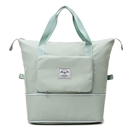 1 borsa portatile in tessuto Oxford leggero, impermeabile, pieghevole, borsa da palestra, borsa a tracolla pieghevole di grande capacità, adatta per fitness, sport e turismo