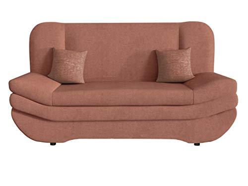 Schlafsofa Weronika by Toptextil, Couch mit Bettkasten, Sofa mit Schlaffunktion, Materialauswahl, Wohnlandschaft vom Hersteller (Uttario Ve 2955 + Aurora 2502)