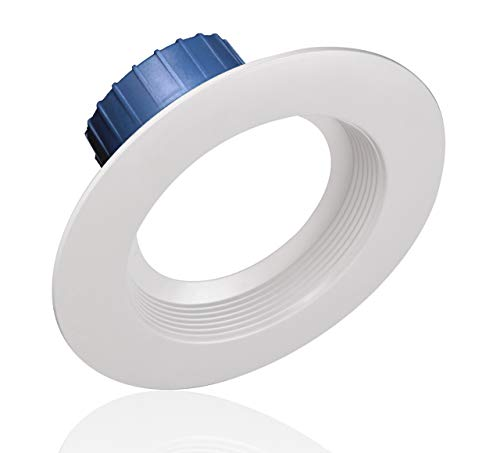 NICOR Lighting 5/6 inch White 800 Lumen LED Recessed Downlight in 3000K with Baffle Trim (DLR56-3008-3K-WH-BF)