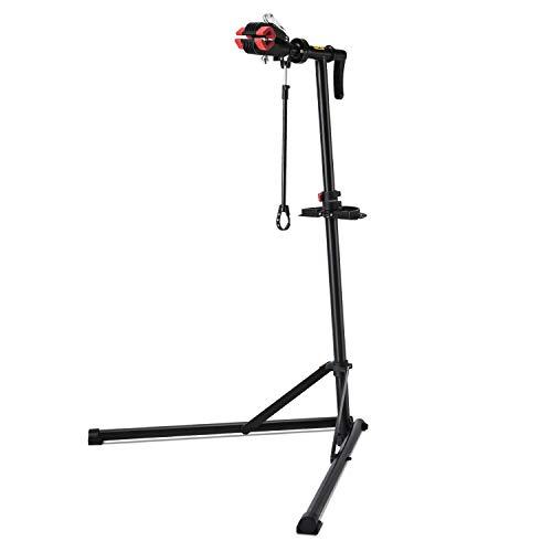 CXWXC Fahrradmontageständer, Reparaturständer für Fahrräder, Schwerlast-Montageständer, Fahrradständer mit verschweißter Klemmkopf, um 360° drehbar, Schnelllösevorrichtungen (M)