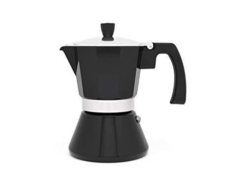Cafetera espresso 6 tazas TIVOLI-negro (Induccion)
