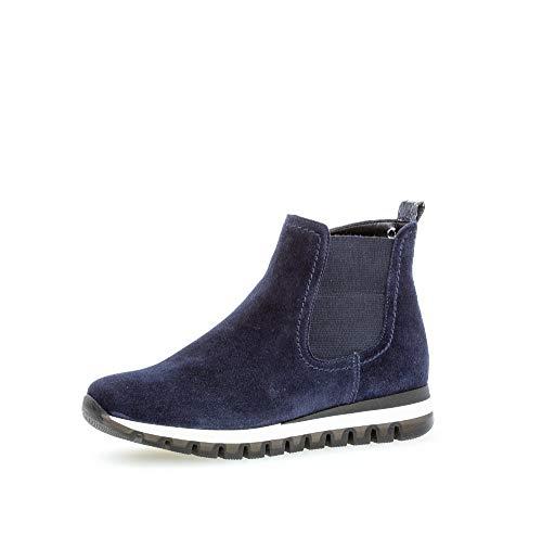 Gabor Damen Stiefeletten, Frauen Chelsea Boots,Comfort-Mehrweite,Reißverschluss,Optifit- Wechselfußbett,Marine (Micro),42 EU / 8 UK