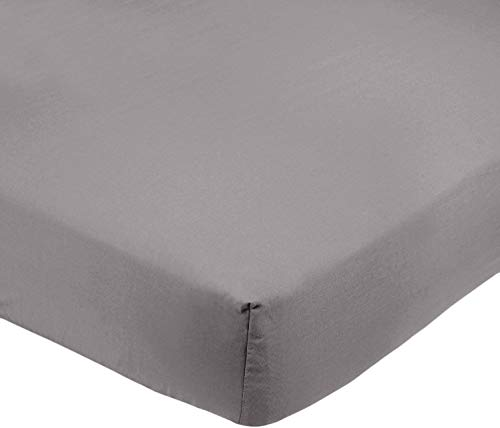 Amazon Basics AB Microfiber, Microfaser, Dunkelgrau, 140 x 200 x 30 cm