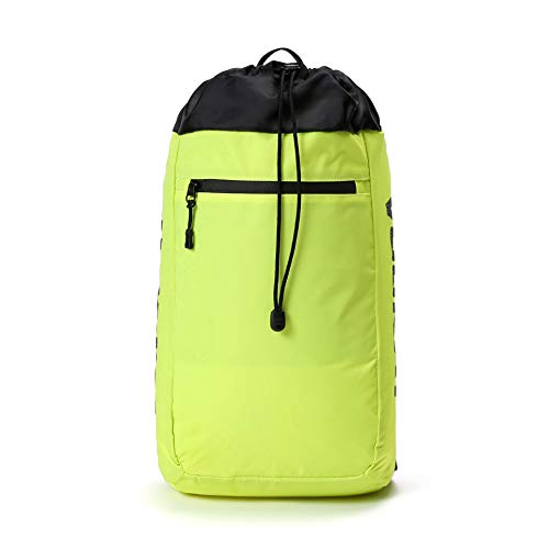 Vooray Stride Cinch Backpack, Drawstring Backpack, Gym Bag for Men and Women (Neon Yellow)