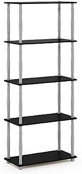 Furinno Turn-N-Tube 5-Tier Multipurpose Shelf Display Rack