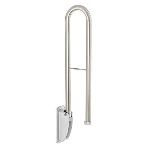 Klappbarer Edelstahl WC Aufstehbügel Sicherheitsgriff Aufstehhilfe Haltegriff Klappgriff - Für Waschbecken, Toiletten und Badewannen Bereich