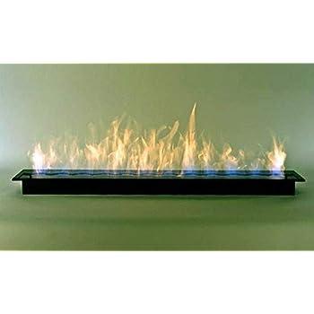 Quemador de 120 cm de acero inoxidable, de doble pared, para 6 litros de gel combustible para chimeneas con bioetanol: Amazon.es: Bricolaje y herramientas
