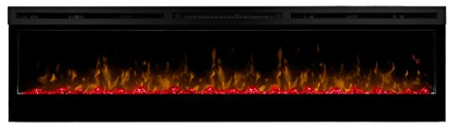 "DIMPLEX Prism 74"" Electric Fireplace Wall-Mounted with Acrylic Ember Bed"