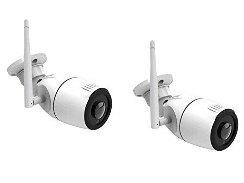Outdoor IP-cameraset 180 °, nachtzicht tot 15 m, HD-resolutie, bediening via app.