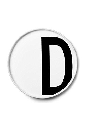 Design Letters - Teller Porzellan - Buchstabe: D - Arne Jacobsen
