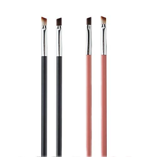 Pinceaux Maquillages 4pcs Fibre Brosse À Sourcils Correcteur Pinceaux De Maquillage Sourcils Eyeliner Pinceaux Set