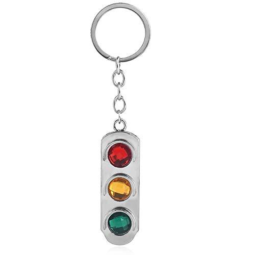 YHX Llavero de semáforo, luz de señal de Seguridad de tráfico, Llavero de decoración de Coche