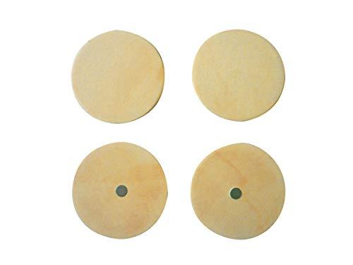 4 magnets ronds bois 5 cm - Graine créative
