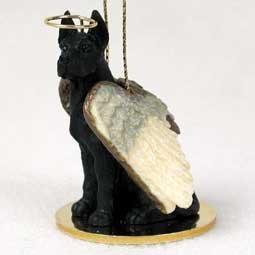 Great Dane Angel Dog Ornament - Black by Conversation Concepts