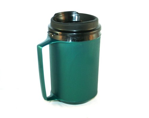 GAMA Electronics 12 oz Foam Insulated Green ThermoServ Travel Coffee Mug
