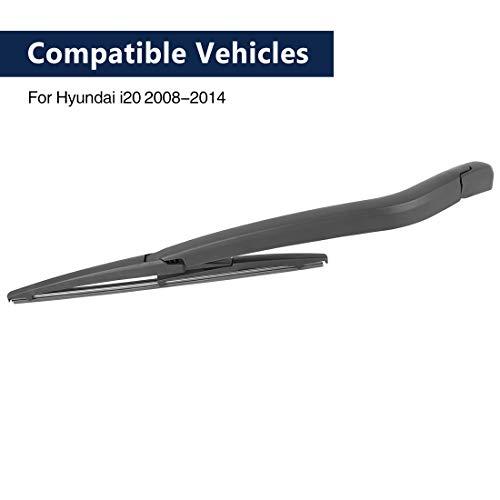 X AUTOHAUX Car 310mm 12'' Rear Windshield Wiper Blade Arm Set for Hyundai I20 2008-2014