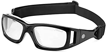 PELLOR Safety Goggles Sports Eyewear Protective Glasses Antifog Lens Replaceable- Black