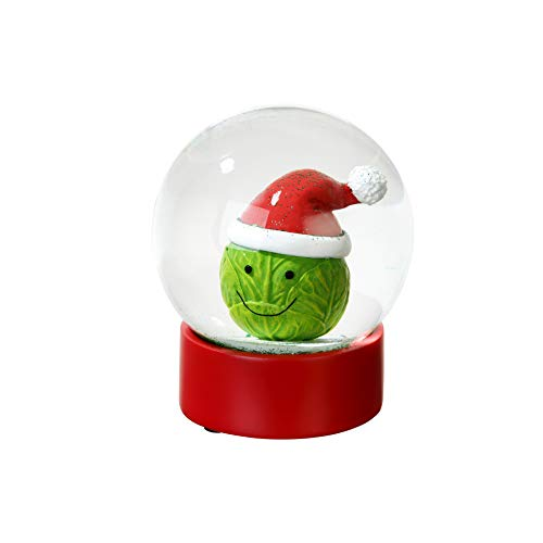 Talking Tables Botanical Sprout Snow Globe for Christmas Decoration, Stocking Fillers and Gifts, Multicolour