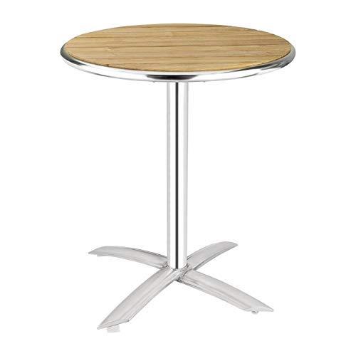 Bolero Bolero Flip-Top-Tisch, Esche 720mm x 600mm Restaurant Bar Cafe Kommerziell Outdoor