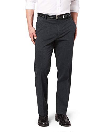 Dockers Men's Classic Fit Signature Khaki Lux Cotton Stretch Pants, charcoal heather, 34W x 32L