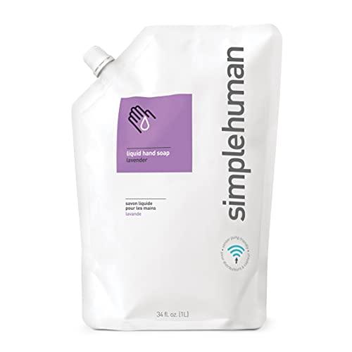 simplehuman FBA_CT1022 Lavender Moisturizing Liquid Hand Soap Refill Pouch, 34 Fl. Oz, 1 Pack, Count