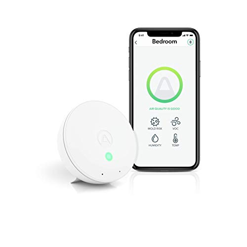 Airthings Wave Mini - Indoor Air Quality + Mold Risk Monitor - Chemicals (TVOCs), Humidity, Temperature