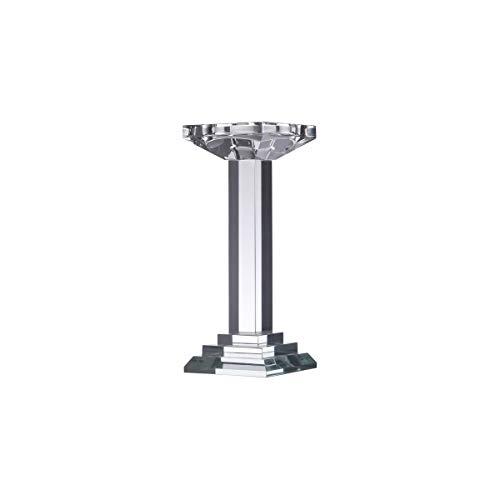 Castiçal de Vidro Óptico Pillar Rojemac Transparente Vidro