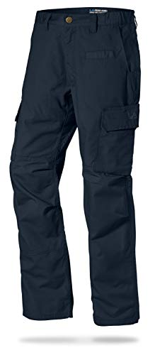 LA Police Gear Men's Water Resistant Operator Tactical Pant with Elastic Waistband Navy-28 x 30