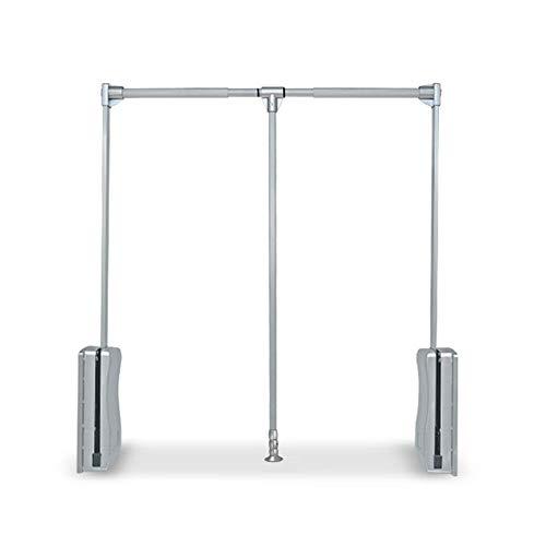 OUKANING Kleiderlift verstellbar Garderoben,Kleiderlift Kleiderstange Garderobenlift Breiten verstellbar 830~1150 mm für Schrankbreite, kleiderschranklift