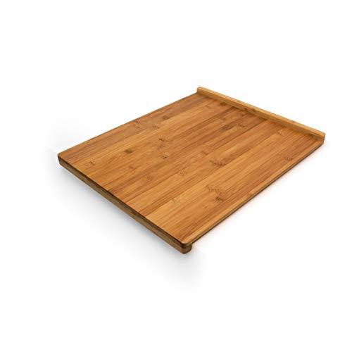 Relaxdays Tabla de Cortar, Bambú, Natural, 2.5 x 38 x 45 cm