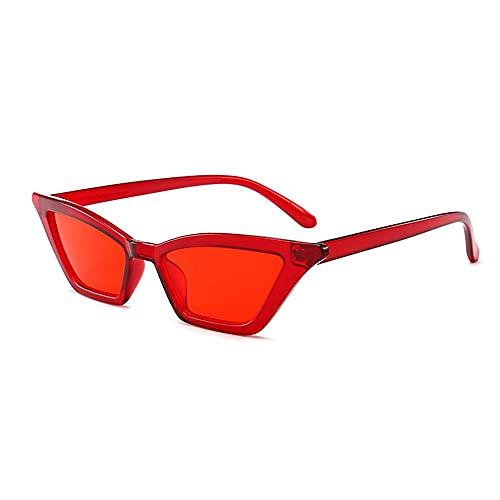 Bellaluee Gafas de Sol Retro estrechas y Puntiagudas de Ojo de Gato para Mujer, Gafas de Sol polarizadas de Ojo de Gato, Gafas de Sol Vintage para Mujer, Lentes tintadas