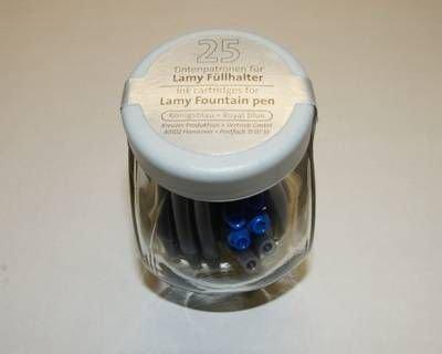 Tintenpatronen für Lamy blau 25er Glas
