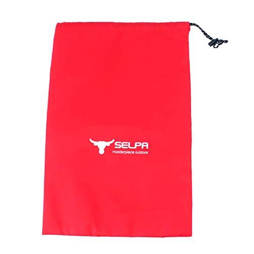 Baoblaze Sacs de Cordon Course Sac de Rangement Stockage Vêtement Protection Sport Extérieur - Rouge, L