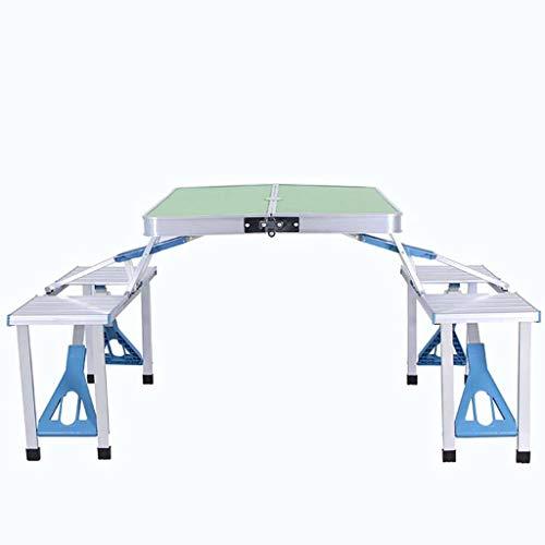 Silla Camping Mesas Y Sillas Plegables,al Aire Libre Portátil Aleación De Aluminio Siamés Equipar Picnic Parilla Mesa-Plata