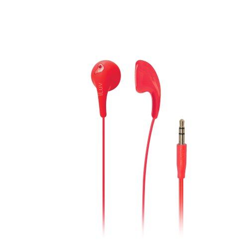 iLuv IEP205RED Rot Im Ohr - Kopfhörer (Im Ohr, Verkabelt, 20-20000 Hz, 109 dB, 16 Ohm, Rot)