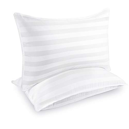 COZSINOOR Hotel Collection Pillows for Sleeping (2-Pack)- Luxury Down Alternative Pillow 100% Breathable Cotton Cover Skin-Friendly - Queen Size