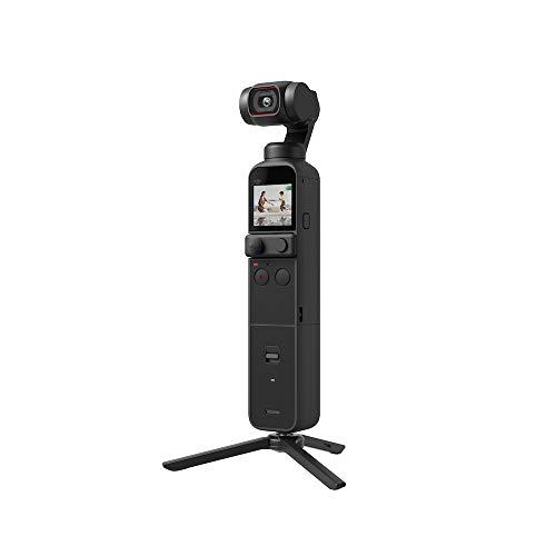 """DJI Pocket 2 Combo - Cámara 4K con Estabilización en 3 Ejes, Vlog, Video UHD, Foto de Resolución de 64 MP, 1/1.7"""" CMOS, HDR, Reducción del Ruido, Timelapse, Slow Motion, Sin Tarjeta, Sin Extensor Rod"""