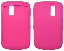 Premium Durable Hot Pink Silicone Soft Rubber Skin Cover Case for RIM Blackberry Curve 8330, 8300, 8310, 8320 - Non-Retail...